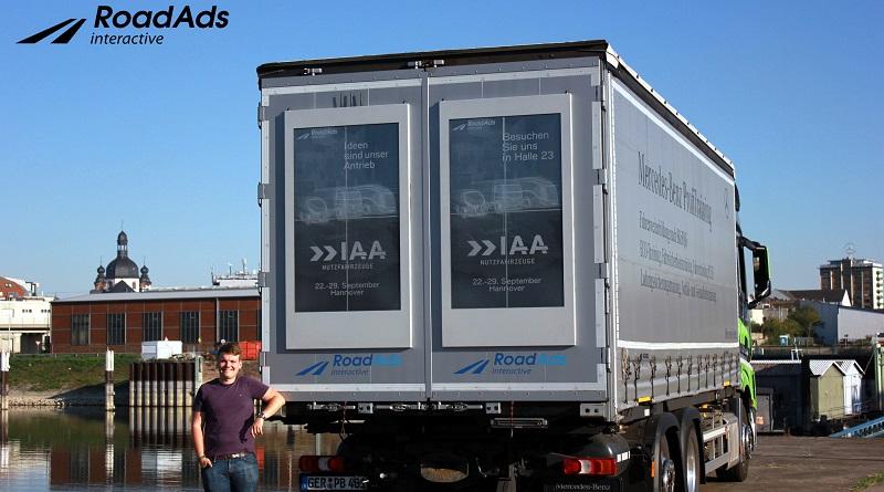 RoadAds interactive LKW Werbung