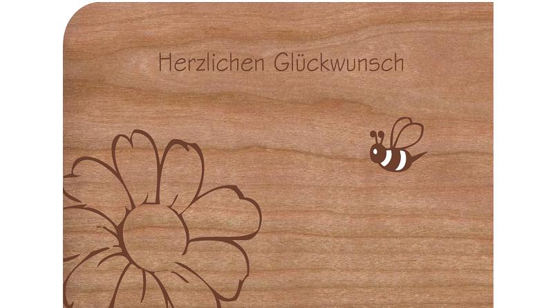 Holzpostkarten Einzigartige Urlaubsgrüsse