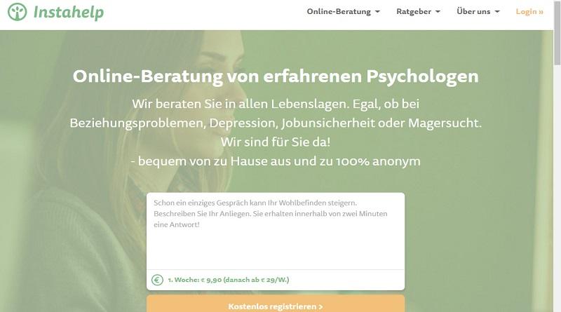 Instahelp psychologische Online-Beratung