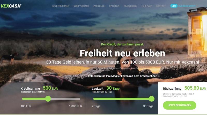 Vexcash Online-Kurzzeitkredite