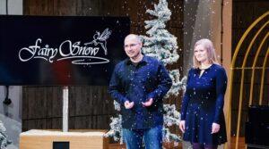 Fairy Snow Effektmaschine für Rieseleffekte wie Schneefall Glitzerregen