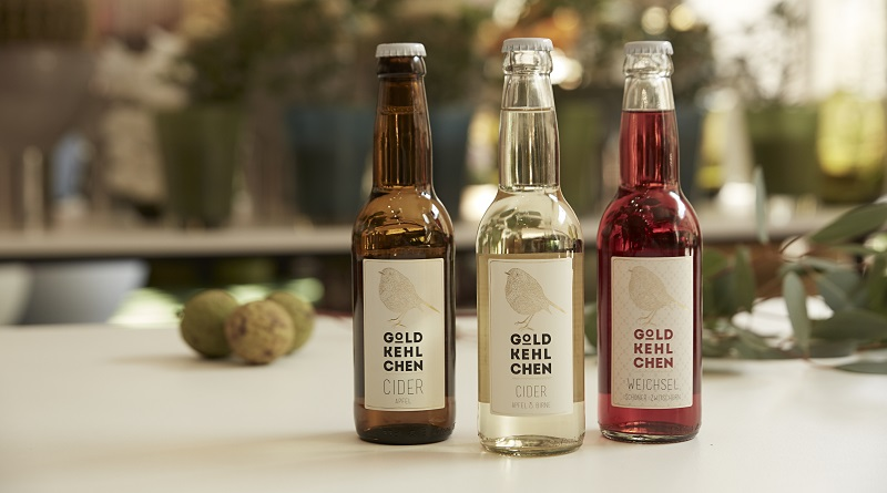 Goldkehlchen Cider Äpfel