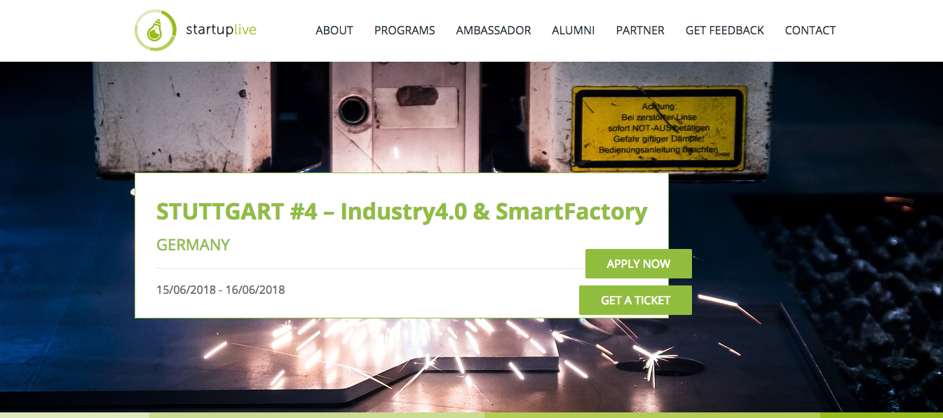 Startup Live Industy 4.0/Smart Factory Stuttgart