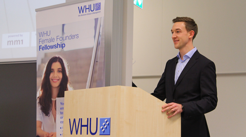 Patrick Breuer Leiter des WHU Entrepreneurship
