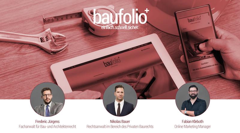 baufolio+ Die neue Kommunikation am Bau/ auf der Baustelle