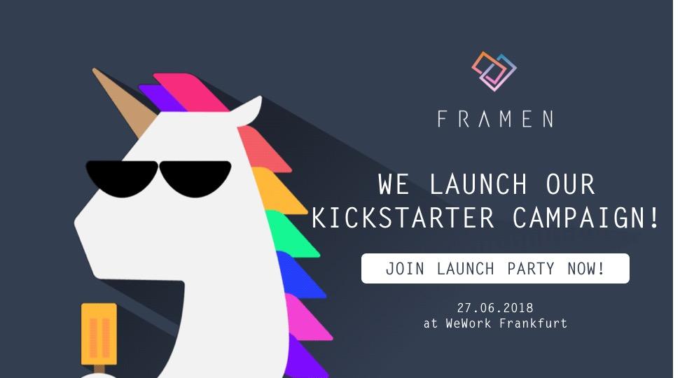 FRAMEN Kickstarter Launch Party