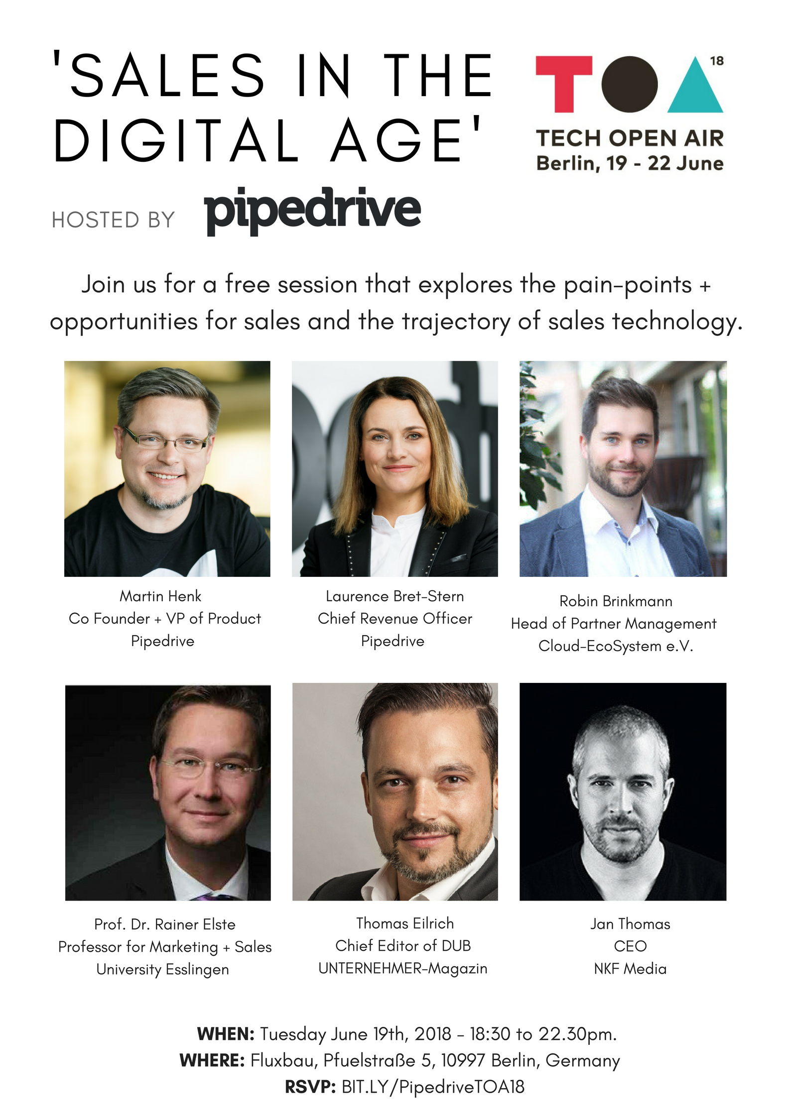 Sales in the Digital Age – Hosted by Pipedrive