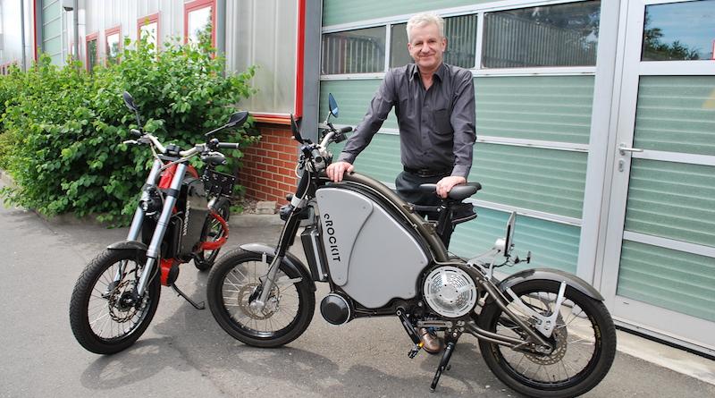 eROCKIT innovatives Elektromotorrad mit Pedalsteuerung