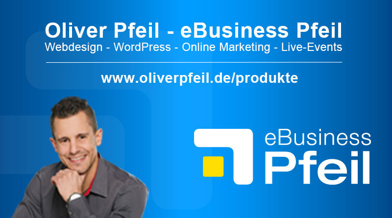 eBusiness Pfeil Webdesign, WordPress und Online-Marketing