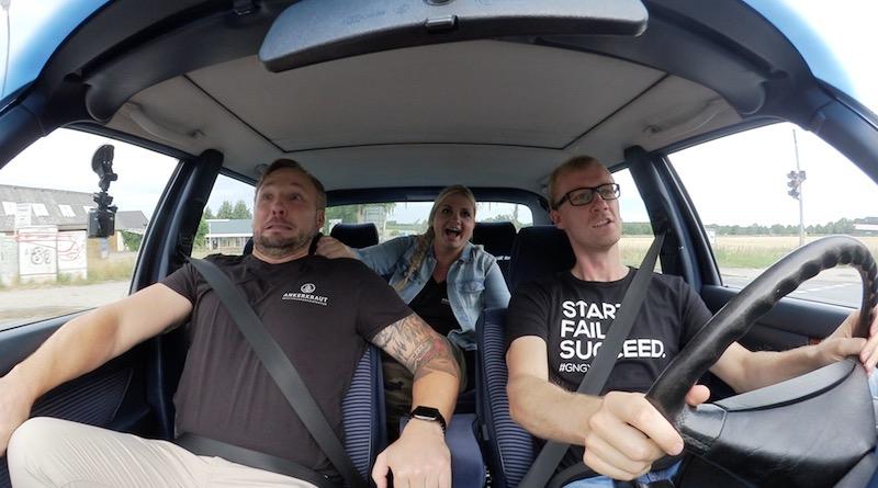 Startup Taxi Gründer Fahrt