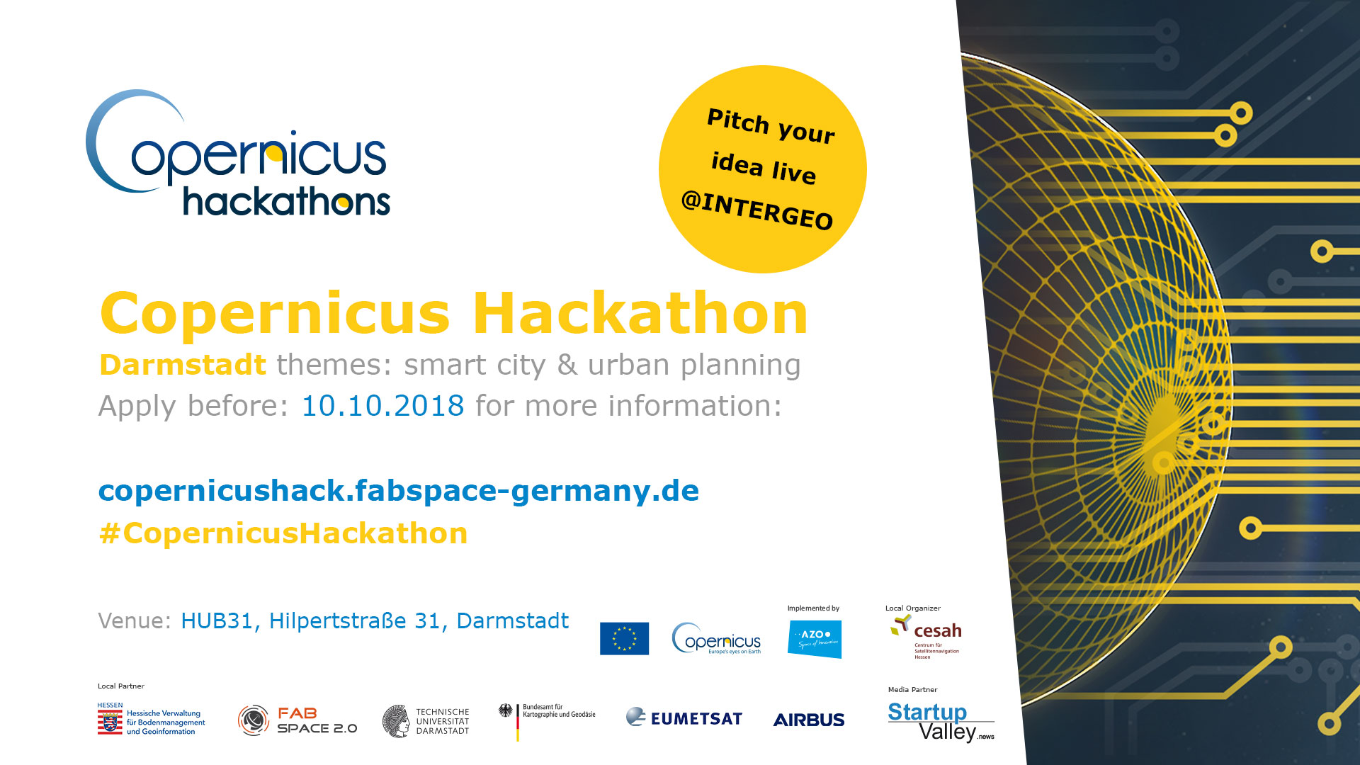 Copernicus Hackathon 2018 - Darmstadt