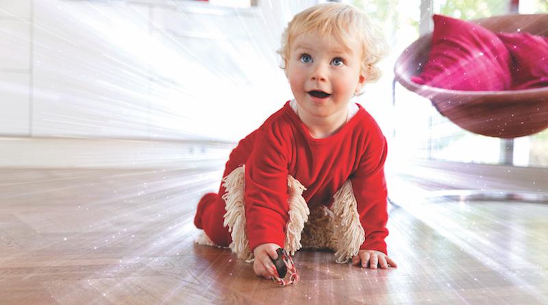 Frederick Schmidt Erfinder des babymop Wishmop und Strampler in einem