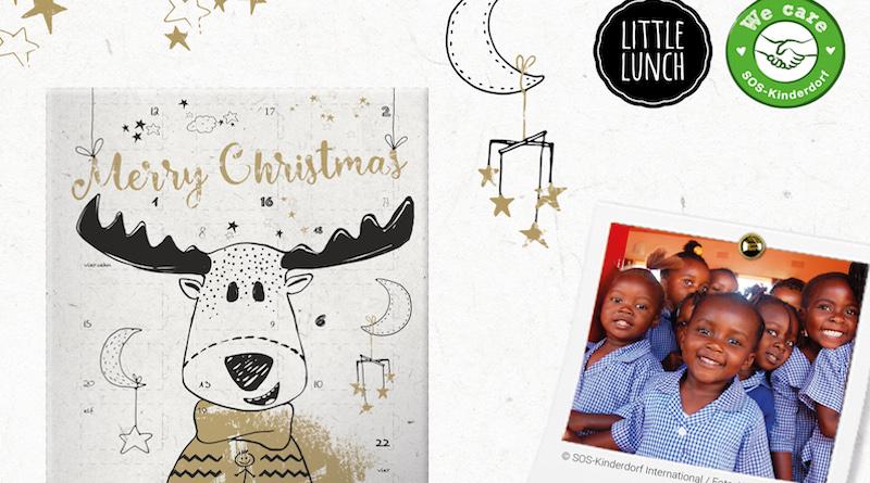 Nächstenliebe statt Weihnachtskonsum: Mit dem Little Lunch Adventskalender SOS-Kinderdorf in Afrika unterstützen- leckeren Bio-Schoki-Kalender