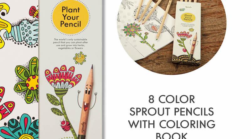 Sprout-Stifte, die zu einer Pflanze werden.Jetzt neu: Sonderedition Kids Color Kit - so sieht gutes Recycling aus - kleine Stifte, große Wirkung