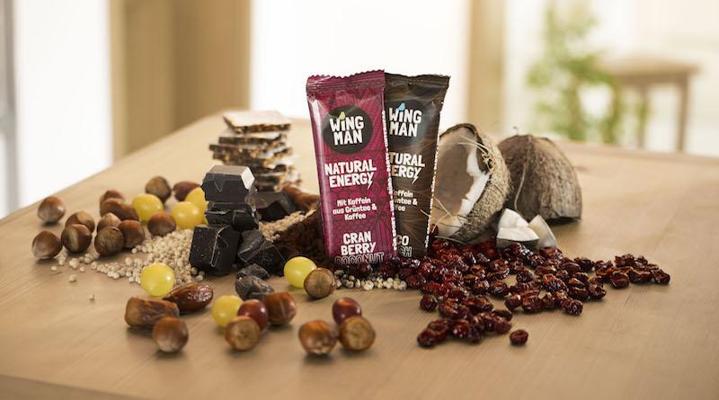 WINGMAN Koffein Riegel aus rein natürlichen Zutaten und sind vegan + glutenfrei