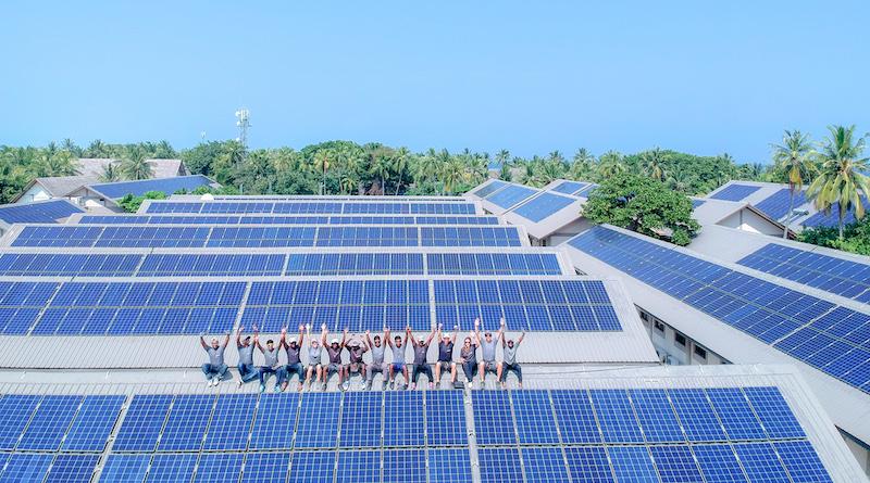 Swimsol Photovoltaik Malediven .Photovoltaikprojekte