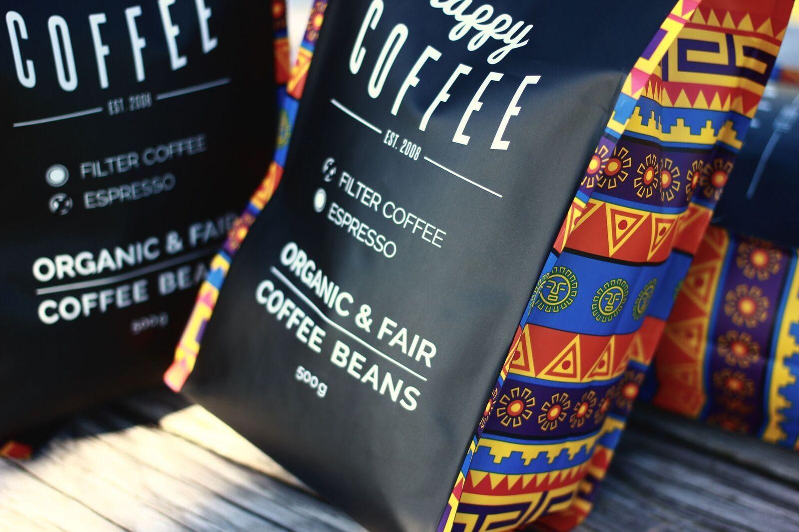 Happy Coffee fairer Bio zertifizierter Kaffee von Kleinbauern
