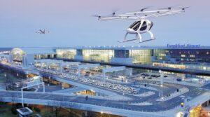 Mit dem Volocopter Flugtaxi starten und landen am Flughafen Frankfurt