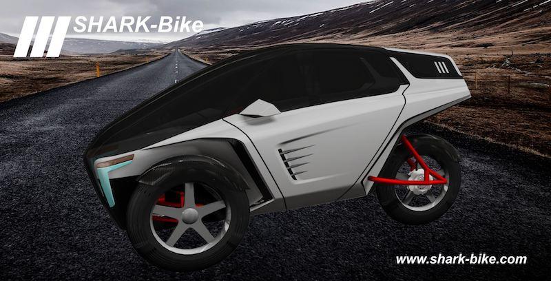 SHARK-Bike dreirädriges überdachtes Elektrofahrrad