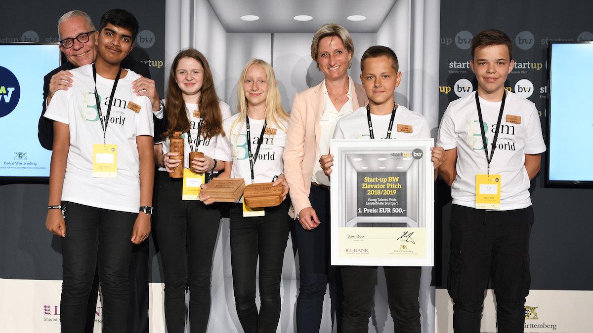 BamBox gewinnt beim Landesfinale Start-up BW Young Talents in Stuttgart