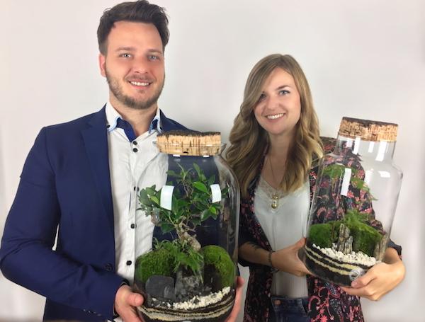 Tiny Gardens individueller Flaschengarten dekorative Biotope