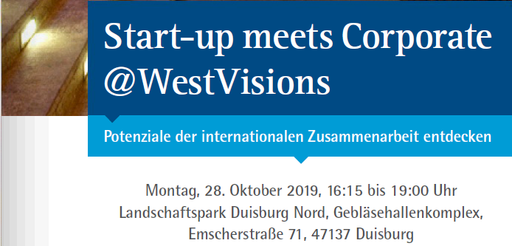 Start-up meets Corporate @WestVisions