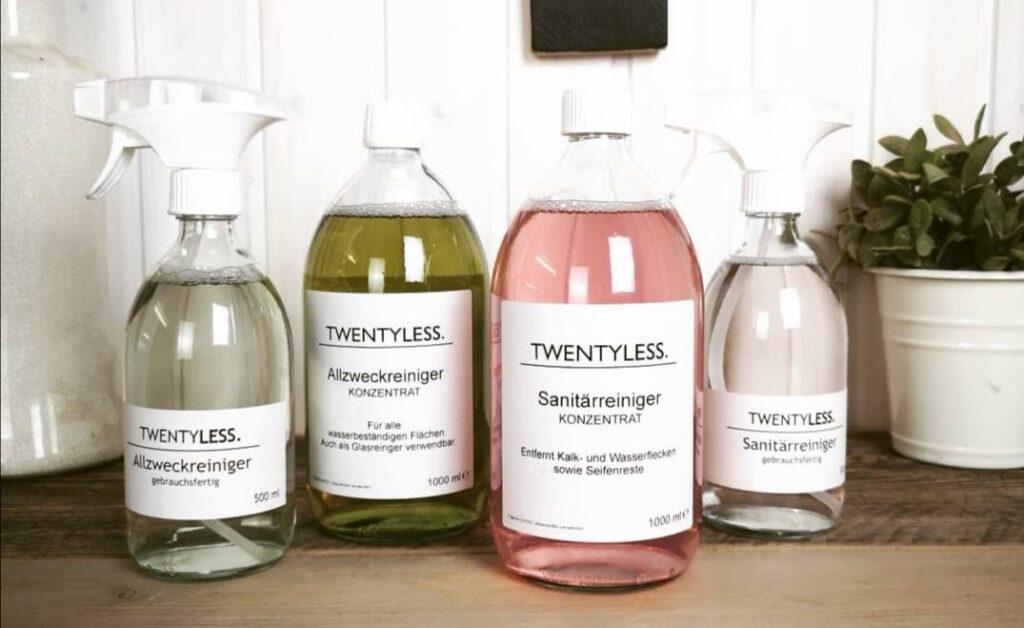 twentyless Reinigungsmittel Glas