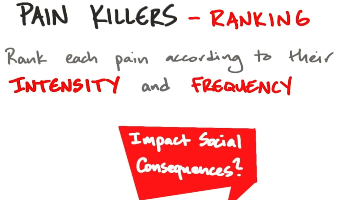 Steve Blank - Pain Killer - wie wichtig sind sie?