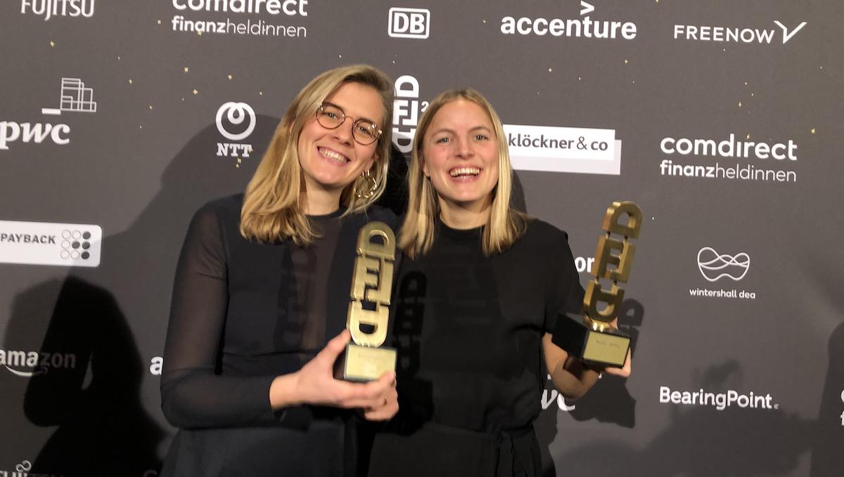 Frischepost-Gründerinnen gewinnen Digital Female Leader Award