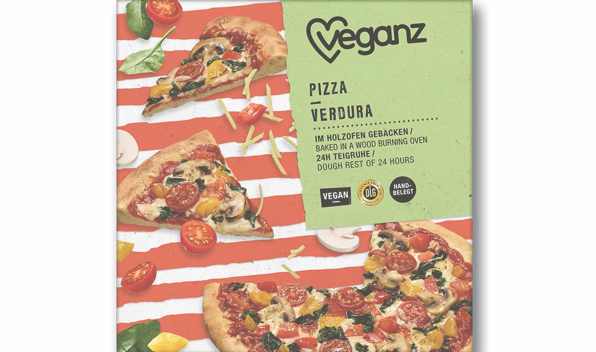 Veganz bringt weltweit erste Pizzen mit Klimascore