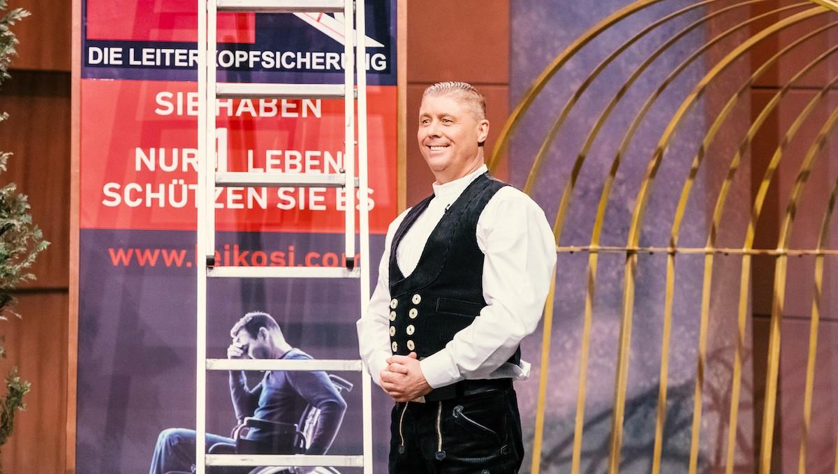 Udo Heyl Gründer von LeiKoSi, Leitersicherung, in der Höhle der Löwen