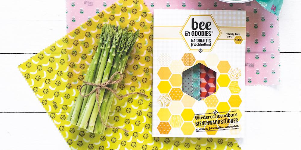 beeGoodies Bienenwachstuch nachhaltig und hält Lebensmittel