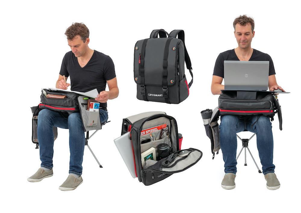 Carosmart ist ein Laptop Rucksack und ein mobiler Arbeitsplatz