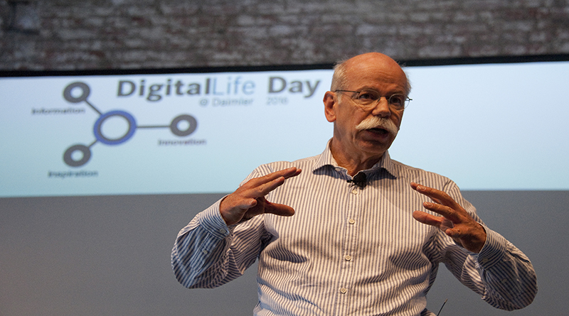 Dr. Dieter Zetsche , Chairman of the Board of Management of Daimler AG and Head of Mercedes-Benz Cars, at the DigitalLife Day 2016 Daimler AG