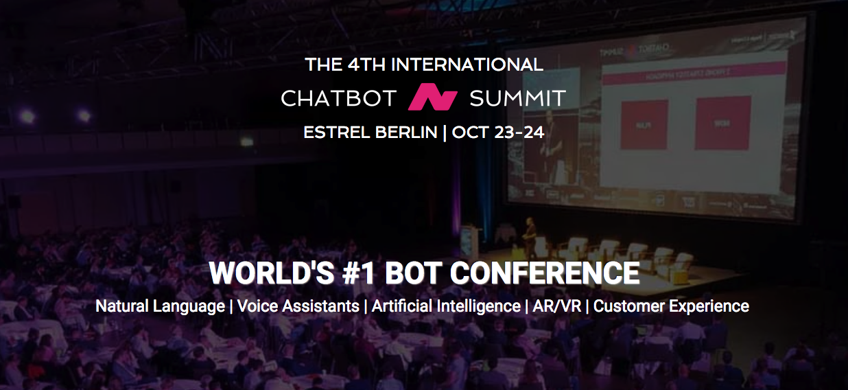 Image result for THE 4TH INTERNATIONAL chatbot summit