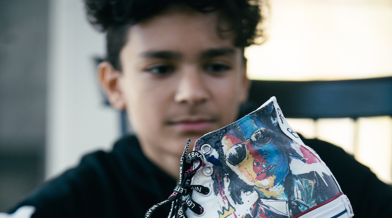 Evan Sharma founder of RBLB turns sneakers into works of art
