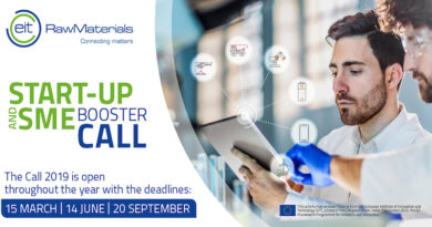 Apply now for EIT RawMaterials Start-up and SME Booster Call 2019!