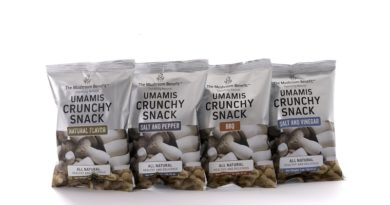 Crunchy Snacks, bringing exotic mushroom goodness to the snack aisles.